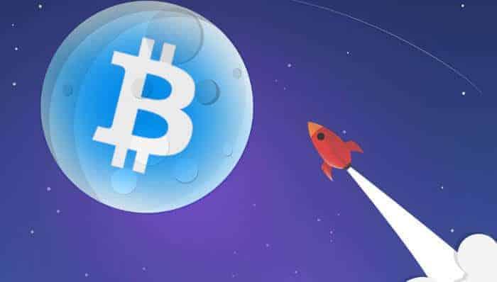 Bitcoin prijs naar de maan