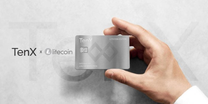 TenX Litecoin kaart