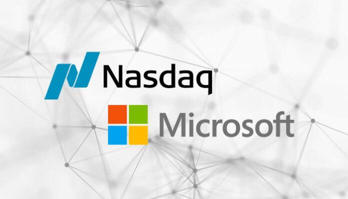 nasdaq_en_microsoft_werken_samen_aan_blockchain_implementatie