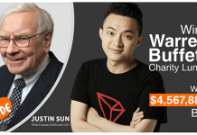 TRON's Justin Sun had eindelijk zijn meeting met Warren Buffett van $4,5 miljoen
