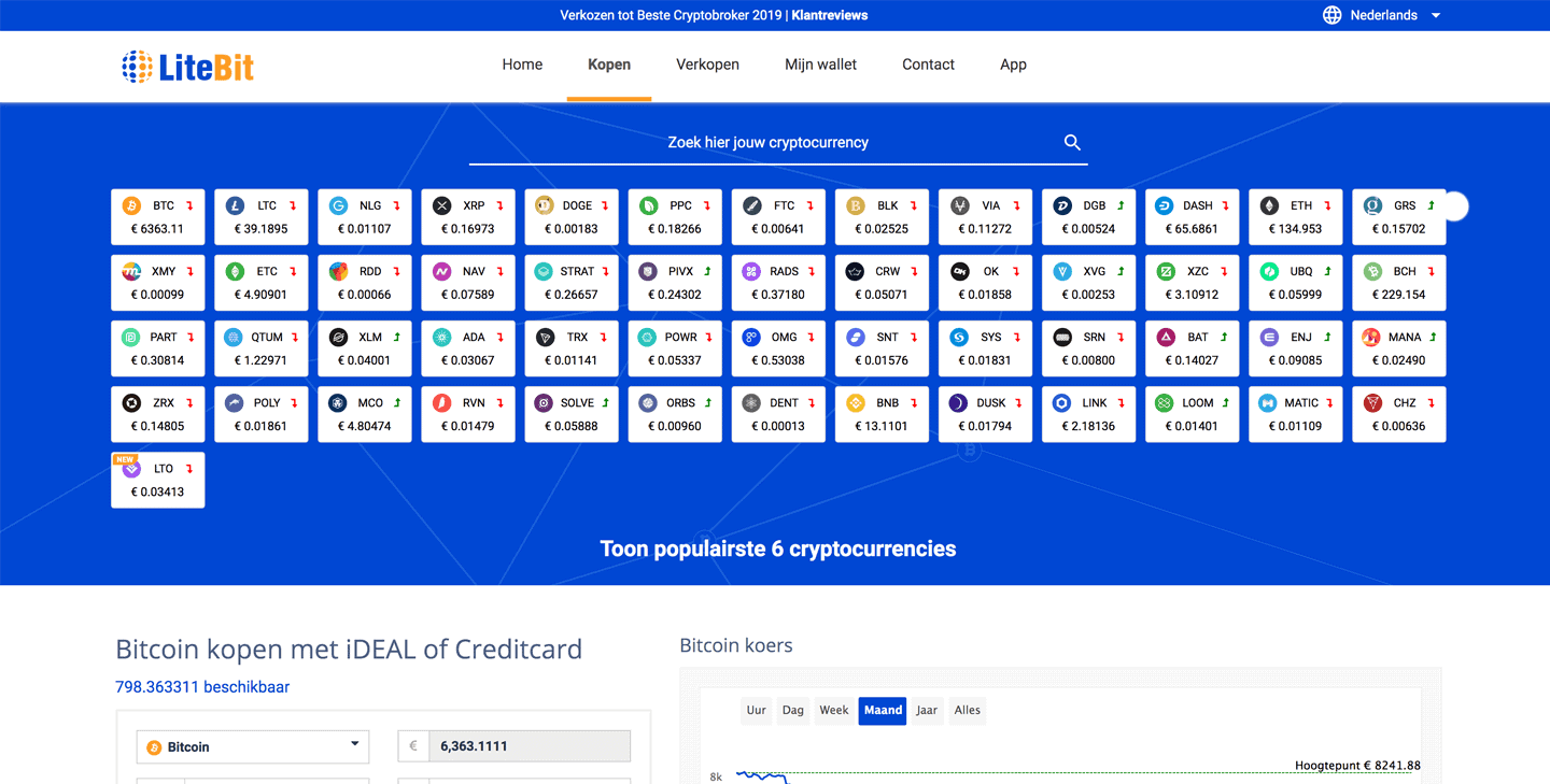 litebit_exchange_screenshot_cryptocurrency_aanbod