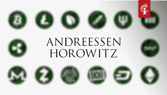 Crypto-fonds van half miljard dollar aangekondigd door Andreessen Horowitz