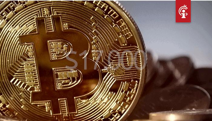 Bitcoin (BTC) koers doet er nog een schepje boven op, trotseert de $17.000